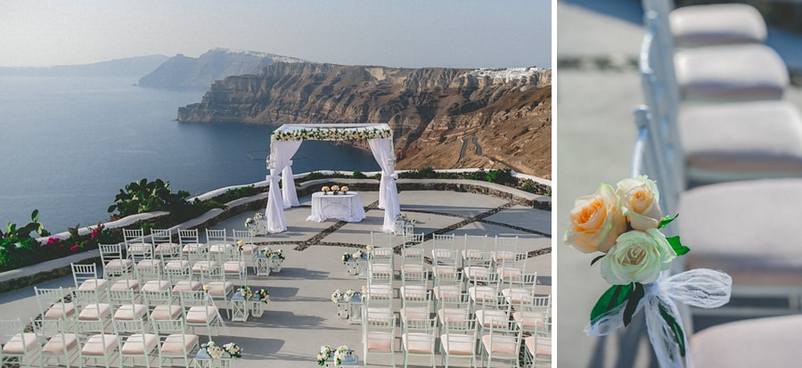 wedding decoration in santorini
