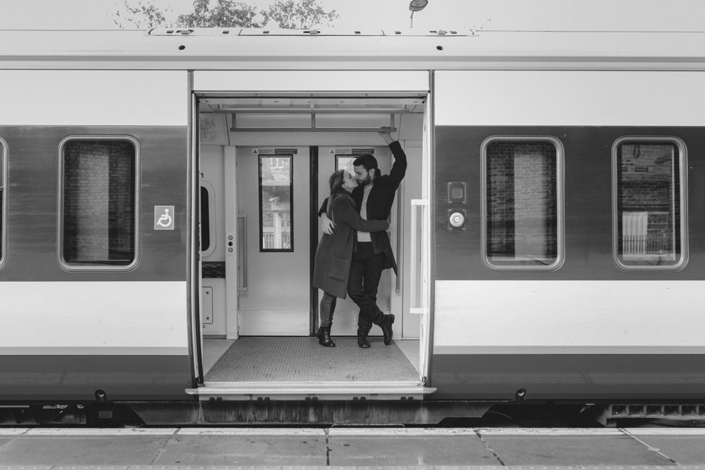 the elopement love inside a train
